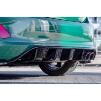 Дифузьор Maxton Design версия 1 за задна ST броня на Ford Fiesta след 2018 година, цвят карбон
