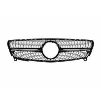 Хром/черна диамантена решетка за Mercedes A класа W176 2016-2018
