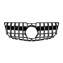 Хром/черна решетка тип GT за Mercedes GLK X204 2013-2015 без отвор за камера