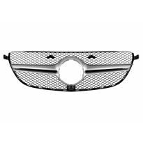 Хром/сива решетка за 63 AMG броня на Mercedes GLE SUV W166, GLE купе C292 2015-2019 с отвор за камера