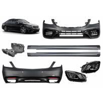 AMG пакет тип S63 за Mercedes S класа W222 2017-2020 с LED фарове и прагове за дълга база