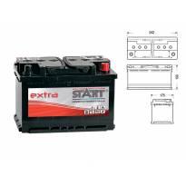 Акумулатор Start Extra 60 Ah 540 A с десен (+)