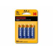 Комплект алкални батерии Kodak MAX 1.5V тип AA 4 броя