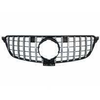 Хром/черна решетка тип GT-R за Mercedes GLE W166, GLE Coupe C292 2015-2019, без отвор за камера