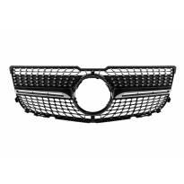Хром/черна диамантена решетка за Mercedes GLK X204 2013-2015