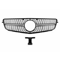 Хром/сива диамантена решетка за Mercedes C класа W204 седан, комби, купе 2007-2014