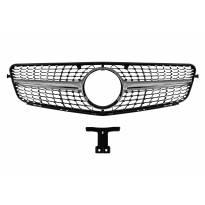 Хром/сива решетка за Mercedes C класа W204 2007-2014