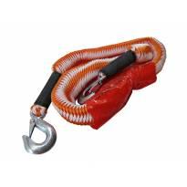 Оранжево въже за теглене Petex с карабинерни куки до 2000кг.