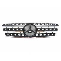 Хром/черна решетка за Mercedes M класа ML W163 1998-2005
