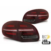 Комплект LED стопове за Porsche Cayenne 2010-2015, червено опушена основа, ляв и десен