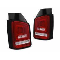 Комплект LED стопове с червена и бяла основа за Volkswagen T5 04.2003-2009, ляв и десен