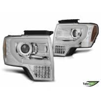 Комплект тунинг фарове за Ford F150 2008-2014 с хром основа, ляв и десен