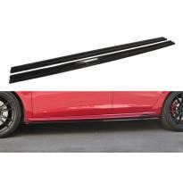 Добавки Maxton Design за прагове версия 1 за Seat Leon Mk3 Cupra, FR след 2017 година, цвят карбон