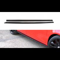 Добавки Maxton Design за прагове тип RS на Skoda Fabia Rs 2010-2014, черен лак