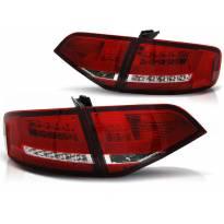 Комплект тунинг LED стопове за Audi A4 B8 2008-2011 седан, версия без фабрични led стопове , ляв и десен