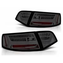 Комплект тунинг LED стопове за Audi A6 C6 седан 2008-2011 опушени , ляв и десен