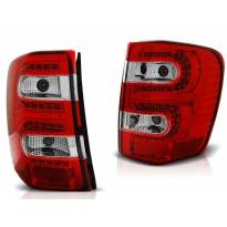 Комплект тунинг LED стопове за Jeep Grand Cherokee 1999-05.2005 червено/бели , ляв и десен