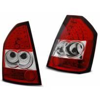 Комплект тунинг LED стопове за Chrysler 300C/300 2009-2010 червено/бели , ляв и десен