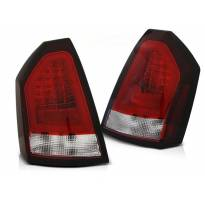 Комплект тунинг LED стопове за Chrysler 300C 2005-2008 червено/бели , ляв и десен