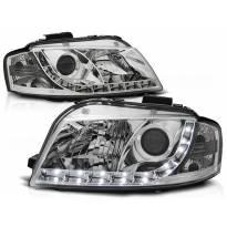 Комплект тунинг фарове с LED светлини за Audi A3 8P 05.2003-03.2008 3D/5D , ляв и десен