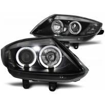 Комплект тунинг фарове с халогенни ангелски очи за BMW Z4 E85 E86 2002-2008 , ляв и десен