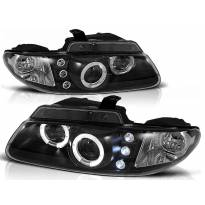 Комплект тунинг фарове с халогенни ангелски очи за Chrysler VOYAGER 1996-02.2001 , ляв и десен