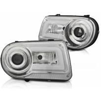 Комплект тунинг фарове с LED светлини за Chrysler 300C 2005-2010 седан/комби , ляв и десен