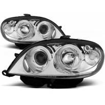 Комплект тунинг фарове с халогенни ангелски очи за Citroen SAXO 09.1999-06.2003 , ляв и десен