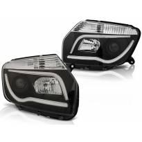 Комплект тунинг фарове с LED светлини за Dacia DUSTER 04.2010 , ляв и десен