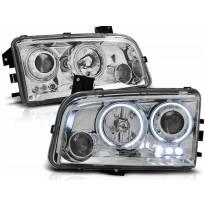Комплект тунинг фарове с CCFL ангелски очи за Dodge CHARGER LX 2006-2010 , ляв и десен