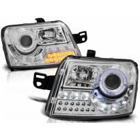 Комплект тунинг фарове с LED светлини за Fiat PANDA след 2003 година, ляв и десен