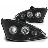Комплект тунинг фарове с халогенни ангелски очи за Ford FOCUS MK1 10.1998-10.2001 , ляв и десен
