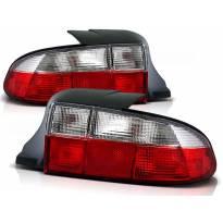 Комплект тунинг стопове за BMW Z3 01.1996-1999 кабрио с червена и бяла основа , ляв и десен