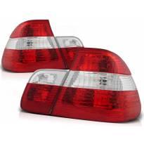 Комплект тунинг стопове за BMW E46 09.2001-03.2005 с червена и бяла основа , ляв и десен