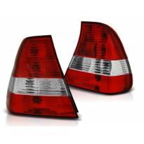 Комплект тунинг стопове за BMW E46 06.2001-12.2004 компакт с червена и бяла основа , ляв и десен