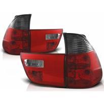 Комплект тунинг стопове за BMW X5 E53 09.1999-10.2003 с червена и опушена основа , ляв и десен