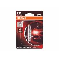 Халогенна крушка Osram H1 Night Breaker Silver 12V, 55W, P14.5s, 1550lm, 1 брой в блистер