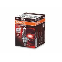 Халогенна крушка Osram H4 Night Breaker Silver 12V, 60/55W, P43t, 1650/1000lm, 1 брой в кутия