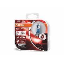 Комплект 2 броя халогенни крушки Osram H4 Night Breaker Laser +150% 12V, 60/55W, P14.5s, 1650/1000lm