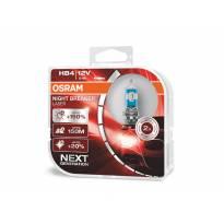 Комплект 2 броя халогенни крушки Osram HB4/9006 Night Breaker Laser +150% 12V, 51W, P22d, 1000lm