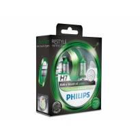 Комплект 2 броя халогенни крушки Philips H7 Color Vision12V, 55W, PX26D, Зелени