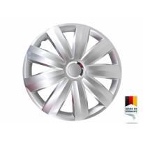 """Декоративни тасове PETEX 16"""" Venture pro silver, 4 броя"""
