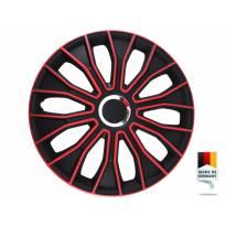 "Декоративни тасове PETEX 15"" Voltec pro black/red, 4 броя"