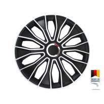 "Декоративни тасове PETEX 15"" Voltec pro black/white, 4 броя"