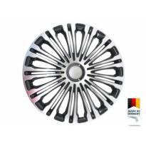 "Декоративни тасове PETEX 15"" Volante black/silver, 4 броя"