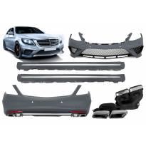 AMG пакет тип S63 за Mercedes S класа W222 2013-2017, с прагове за дълга база