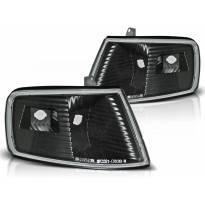Комплект тунинг мигачи към фара за Honda CRX 1990-1992 с черна основа ляв + десен
