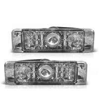 Комплект тунинг LED мигачи в бронята за VW Golf I 1974-1983/Golf II 1983-1991/Jetta 1984-1991 с хром основа ляв + десен