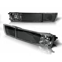 Комплект тунинг мигачи в бронята за VW Golf III 1991-1997/Vento 1992-1998 с черна основа ляв + десен