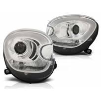 Комплект тунинг ксенонови фарове за Mini Cooper R60/R61 Countryman 2010-2014 с хром основа , ляв и десен